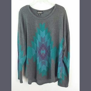 Absolutely Famous Lightweight Print Sweater  XL